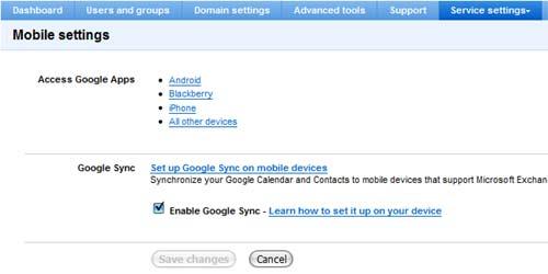 GoogleApps 「Enable Google Sync」が保存されないバグ
