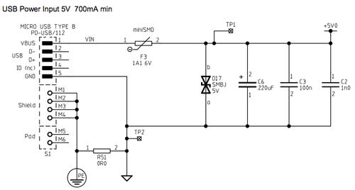 RaspberryPi電源回路図