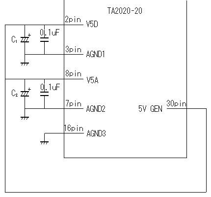 TA2020-20 5V電圧の安定化回路図