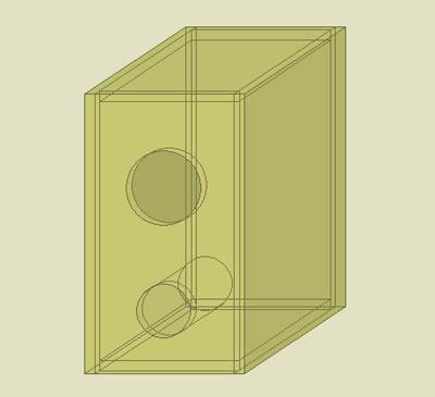 バスレフ型エンクロージャーの設計図