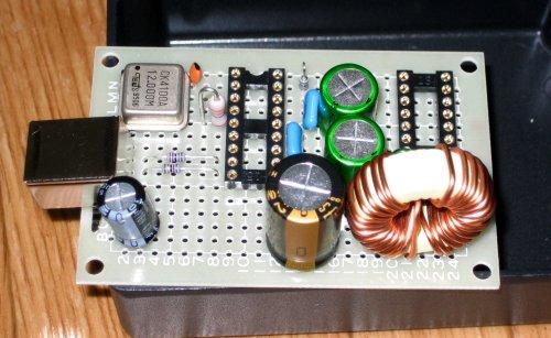 CM102-A+ 自作USB DAC 部品のせ
