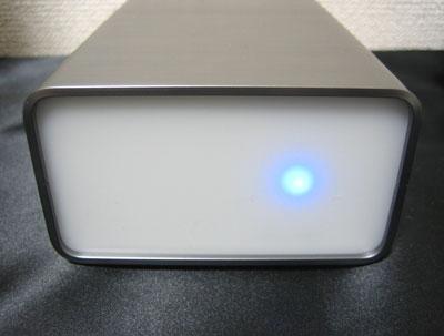 nosDAC 前面部 アクリル板で青色LED