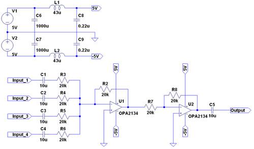 自作ミキサー 回路図