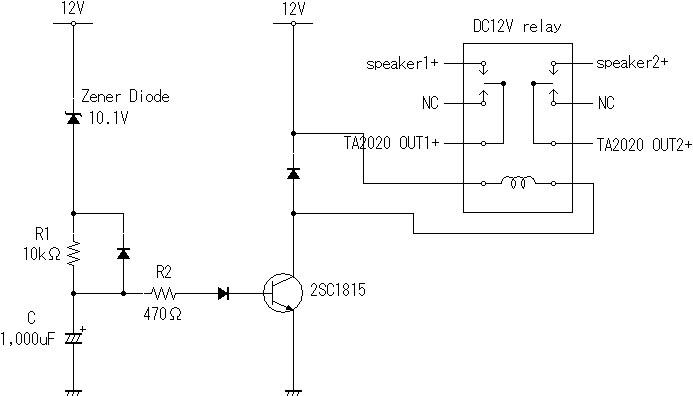 TA2020-20 POPノイズ除去回路