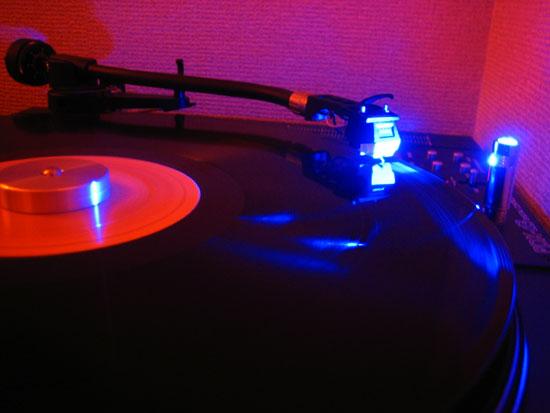 自作 青色LEDスタイラスイルミネーション