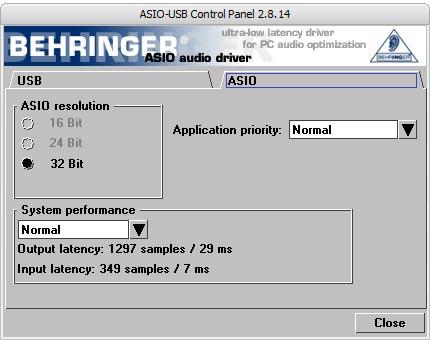 UCA202 ASIO Setting Screen image2
