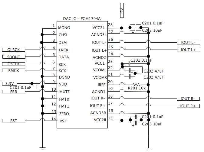 PCM1794A DAC回路図