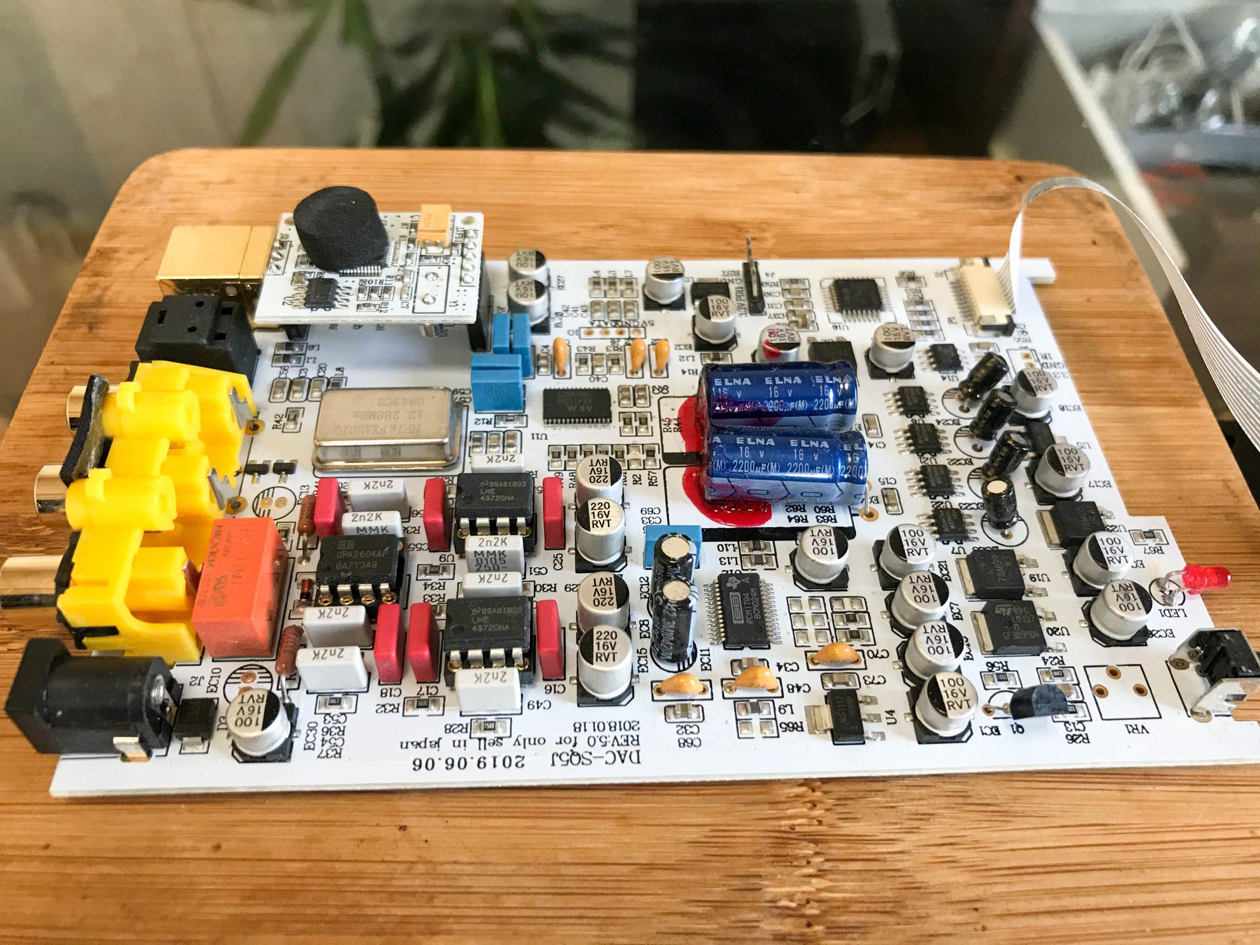 NFJ FX AUDIO DAC-SQ5J分解