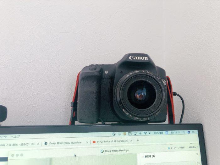 一眼レフをWebカメラにする