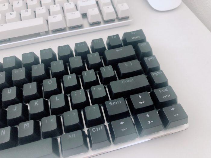 PBT樹脂のキーキャップに交換